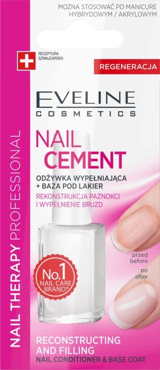 Condizionante-base per le unghie - Eveline Cosmetics Nail Cement Conditioner & Base Coat