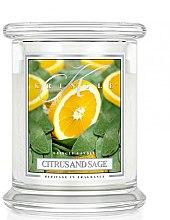 Profumi e cosmetici Candela profumata in vetro - Kringle Candle Citrus And Sage