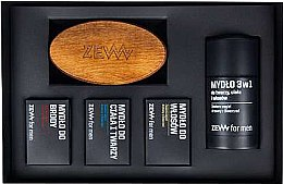 Profumi e cosmetici Set - Zew The Bearded Man's Holiday Set (soap/4x85ml + brush)