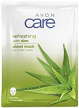 Profumi e cosmetici Maschera in tessuto con estratto di aloe vera - Avon Care Aloe Refreshing Sheet Mask