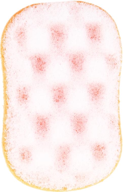 Spugna da bagno, 6019, bianco-arancio - Donegal — foto N1