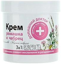 Profumi e cosmetici Crema alla camomilla e timo - Domashnyi Doctor