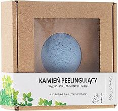 Profumi e cosmetici Pietra naturale per peeling viso, blu - Pierre de Plaisir Natural Scrubbing Stone Face