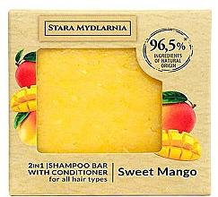 "Profumi e cosmetici Shampoo-condizionante solido ""Mango dolce"" - Stara Mydlarnia Sweet Mango 2in1 Shampoo Bar"