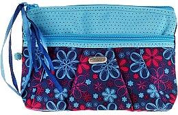 "Profumi e cosmetici Beauty case ""Ribbons"" 93951, azzurro - Top Choice"