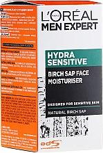 Crema viso idratante con estratto di betulla per pelli sensibili, uomo 25+ - L'Oréal Paris Men Expert Hydra Sensitive 25+ — foto N2