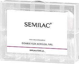 Profumi e cosmetici Tips per unghie - Semilac Double Flex Acrylgel Dual Tips