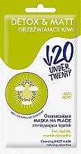 Profumi e cosmetici Maschera detergente opacizzante - Under Twenty Anti! Acne Detox & Matt Face Mask