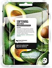 "Profumi e cosmetici Maschera in tessuto ammorbidente ""Avocado"" - Superfood For Skin Softening Sheet Mask"