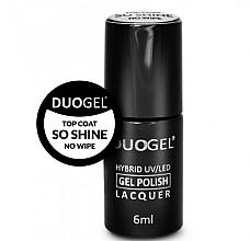 Profumi e cosmetici Smalto ibrido per unghie non appiccicoso - Duogel Top Coat So Shine No Wipe