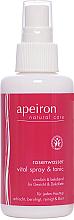 Profumi e cosmetici Spray per viso e collo con acqua di rose - Apeiron Rose Water Vital-Spray
