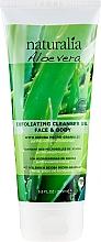 Profumi e cosmetici Gel detergente esfoliante - Naturalia Aloe Vera Exfoliating Cleanser Gel Face & Body