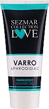 Profumi e cosmetici Gel doccia 2 in 1 per corpo e capelli - Hrisnina Cosmetics Sezmar Collection Love Varro Aphrodisiac Hair & Body Shower Gel