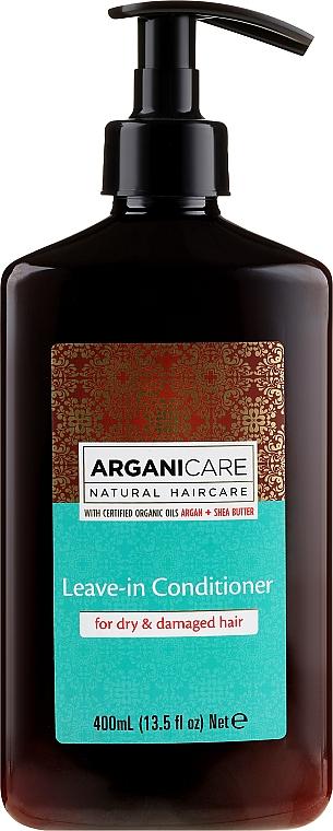 Balsamo idelibile per capelli secchi e danneggiati - Arganicare Shea Butter Leave-In Hair Conditioner