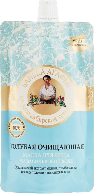 Maschera viso detergente blu con acqua di fiordaliso - Ricette della nonna Agafia Bania
