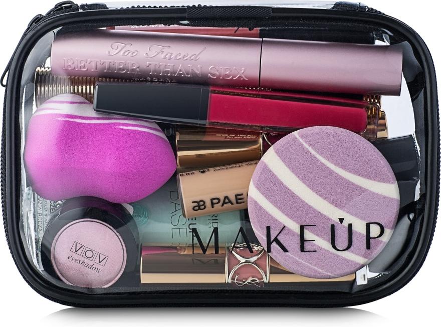 "Beauty case trasparente ""Visible Bag"" (senza cosmetici) 15x10x5cm - MakeUp — foto N1"