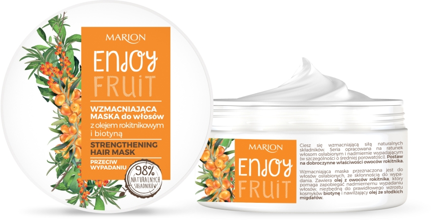Maschera capelli con olio di olivello spinoso - Marion Enjoy Fruit Strengthening Hair Mask