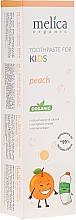 Profumi e cosmetici Dentifricio per bambini - Melica Organic Toothpaste For Kids Peach