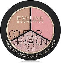 "Profumi e cosmetici Palette ""Bronzer, Illuminante, Blush"" - Eveline Cosmetics Contour Sensation"