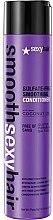 Profumi e cosmetici Balsamo per capelli fragili - SexyHair SmoothSexyHair Anti-Frizz Conditioner