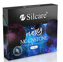 Profumi e cosmetici Set - Silcare Flexy Moonstone Hybrid Gel Set (nail/polish/4x4.5g)