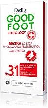 Profumi e cosmetici Maschera per piedi levigante e rigenerante - Delia Cosmetics Good Foot Podology Nr 3.1