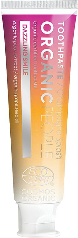 Dentifricio sbiancante per denti sensibili - Organic People Champagne Splash Toothpaste — foto N1