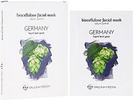 "Profumi e cosmetici Maschera in tessuto ""Germania"" - Calluna Medica Germany Sebum Control Biocellulose Facial Mask"