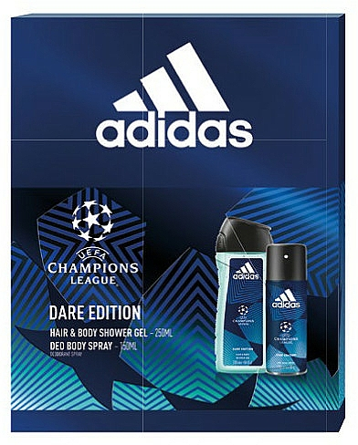 Adidas UEFA Dare Edition - Set (sh/gel/250ml + deo/spray/150ml)