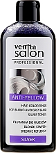 Profumi e cosmetici Balsamo colorante per capelli decolorati e grigi - Venita Salon Anty-Yellow Blond & Grey Hair Color Rinse Silver