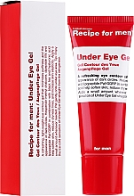 Gel contorno occhi uomo - Recipe For Men Under Eye Gel — foto N2