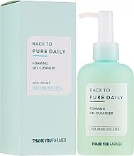 Profumi e cosmetici Schiuma gel detergente per pelle sensibile - Thank You Farmer Back To Pure Foaming Gel Cleanser