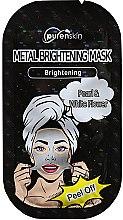 Profumi e cosmetici Maschera viso con perle ed estratto di loto - Purenskin Peel Off Metal Brightening Mask