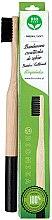 Profumi e cosmetici Spazzolino da denti in bambù, morbido, nero - Biomika Natural Bamboo Toothbrush