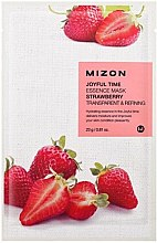 Profumi e cosmetici Maschera in tessuto con estratto di fragola - Mizon Joyful Time Essence Mask Strawberry