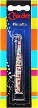 Profumi e cosmetici Pinzetta per sopracciglia, smussata, 9 cm - Credo Solingen