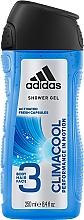 Profumi e cosmetici Gel per capelli, corpo e viso - Adidas Climacool 3in1 Shower Gel Body&Hair&Face