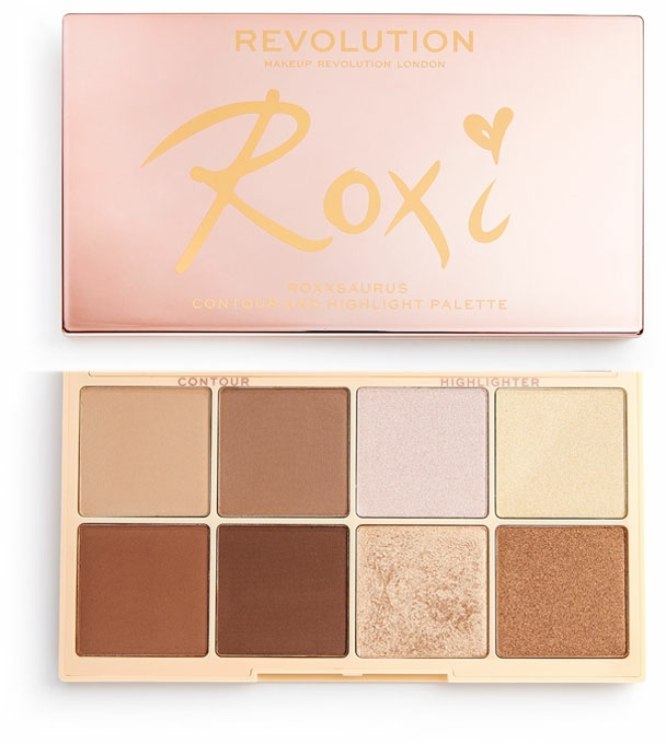 Palette illuminanti - Makeup Revolution Roxxsaurus Roxi Highlight & Contour Palette