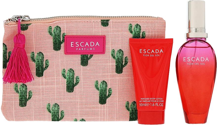 Escada Flor del Sol - Set (edt/50ml + b/lot/50ml + bag) — foto N3