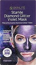 Profumi e cosmetici Maschera esfoliante brillante - Skinlite Starkle Diamond Glitter Violet Mask