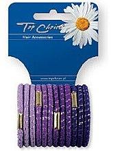 Profumi e cosmetici Elastici per capelli 12 pezzi, viola, 21312 - Top Choice