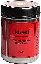 """Profumi e cosmetici Tinta per capelli a base di erbe organiche """"Henna e Amla"""" - Khadi Herbal Hair Colour Henna & Amla"""