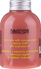 Profumi e cosmetici Crema da bagno con estratto di cioccolato e arancia - BingoSpa Creamy Chocolate Bath With Orange Oil