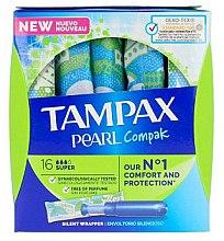 Profumi e cosmetici Tamponi con applicatore, 18 pz - Tampax Pearl Compak Super