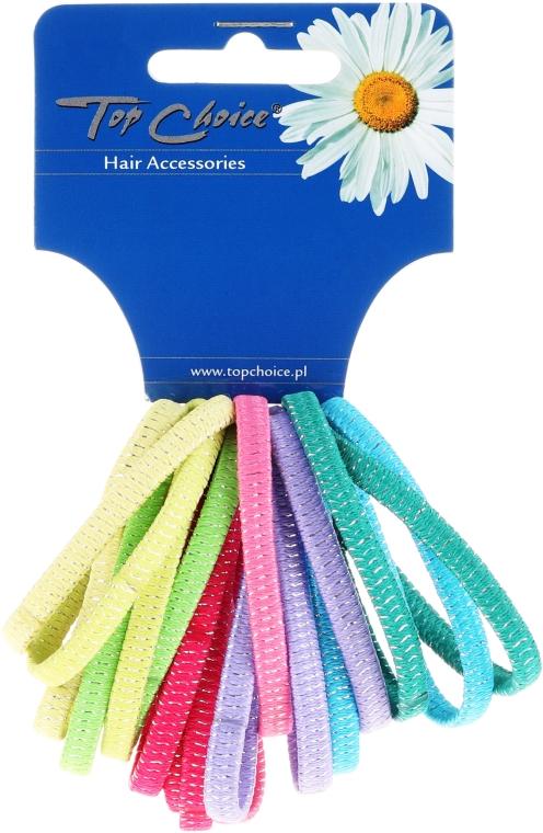Elastici per capelli 18 pezzi, mix di colori, 22197 - Top Choice — foto N1