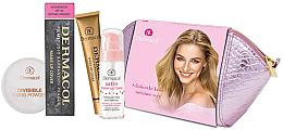 Profumi e cosmetici Set - Dermacol (foundation/30g + makeup/base/30ml + powder/13g + bag)