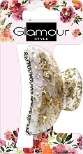 Profumi e cosmetici Pinza per capelli, 417624, oro latte con pietre - Glamour