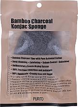 Profumi e cosmetici Spugna con carbone di legna - Purito Bamboo Charcoal Konjac Sponge