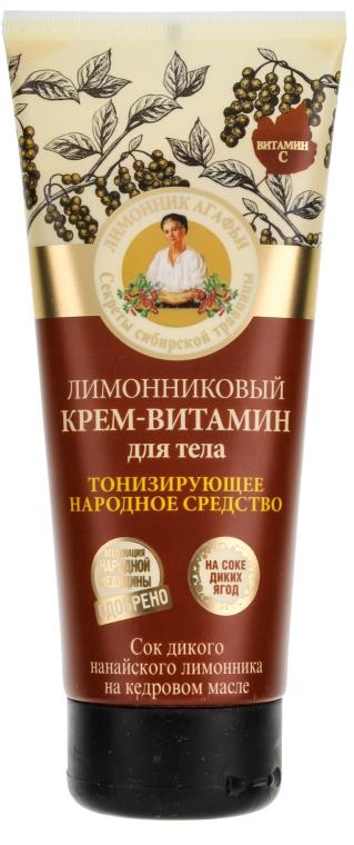 Crema vitaminica per il corpo con estratto di limone cinese - Ricette di nonna Agafya
