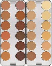Profumi e cosmetici Palette correttori, 24 tonalità - Kryolan Dermacolor Camouflage Creme Palette